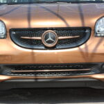 Trim strip for under grille in color hazel brown metallic for Smart Fortwo 453