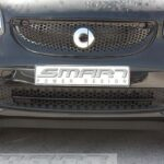 Trim strip for under grille in color black acrylic for Smart Fortwo 453
