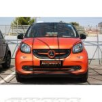 Trim strip for under grille in color red acrylic for Smart Fortwo 453