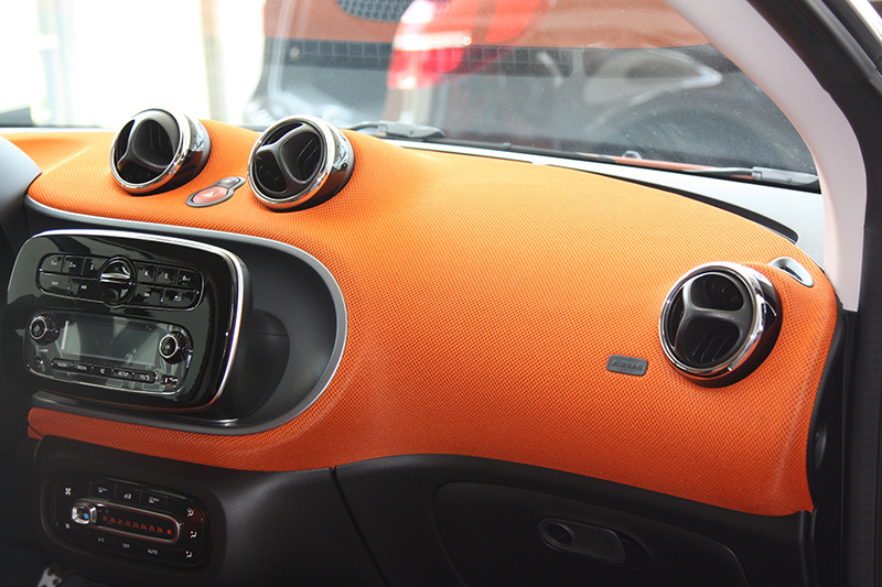 Chrome rings for the ventilation for Smart Fortwo and Forfour 453