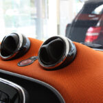 Chrome rings vents interior Smart Fortwo 453
