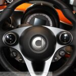Chrome rings Set in the steering for Smart Fortwo 453 and Forfour 453