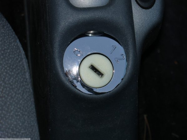 Ignition lock plate in finish nickel black for Smart Fortwo 450