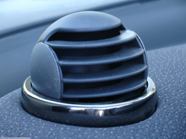 Trim Rings for the Air Conditioning Vents in finish nickel black for Smart Fortwo 450