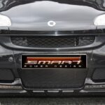 Front spoiler for Smart Fortwo 451 in color deep black