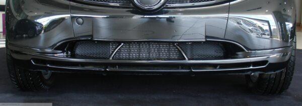 Front spoiler in color jack black for Smart Fortwo 450