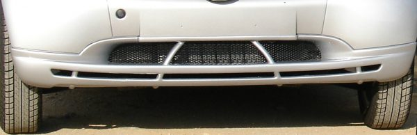 Front spoiler in color river silver for Smart Fortwo 450