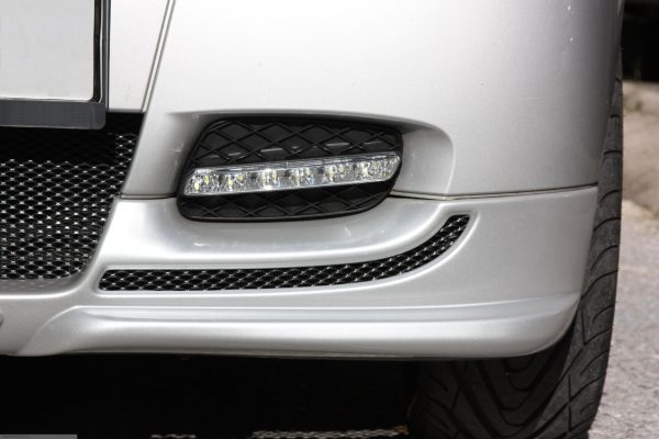 Front spoiler in color river silver for Smart Fortwo 451
