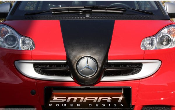 Front end grille F1 McLaren for Smart Fortwo 451 in look carbon