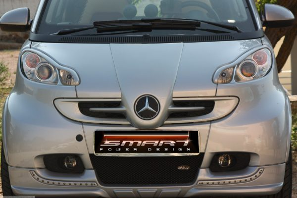 Front end grille F1 McLaren for Smart Fortwo 451 in river silver