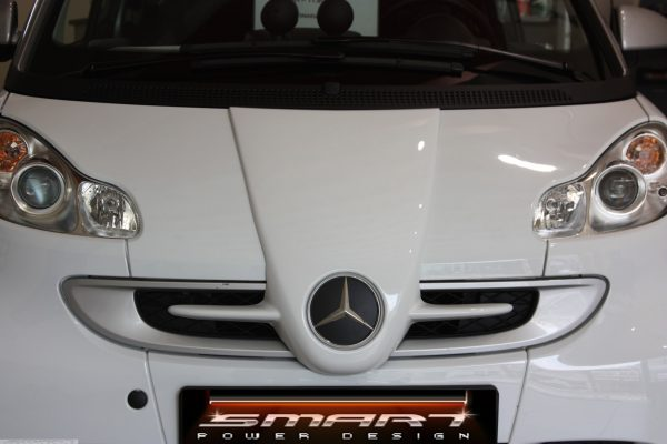 Front end grille F1 McLaren for Smart Fortwo 451 in color crystal white