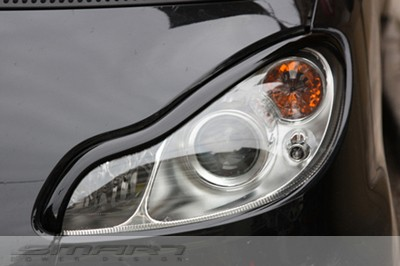 Headlight frames for Smart Fortwo 451 in color deep black
