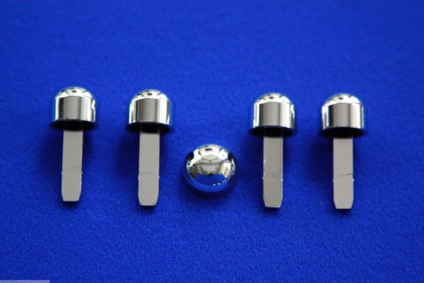 Knobs Set chrome only Smart Fortwo 450