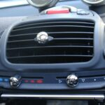 Heater Sliding Control knobs in chrome of the centre console for Smart Fortwo 450