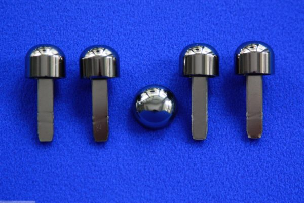 Knobs Set nickel black only Smart Fortwo 450