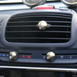 Heater Sliding Control knobs nickel matt of the centre console for Smart Fortwo 450