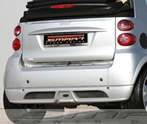 Rear valance for Smart Fortwo 451 in color silver metallic