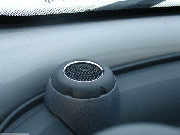 Rings for speaker in finish chrome for Smart Fortwo 450