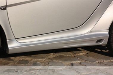 Side skirts for Smart Fortwo 451 in color silver metallic