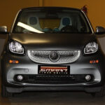 Front grille SLS in titania grey matt with original Mercedes emblem for Smart Fortwo 453
