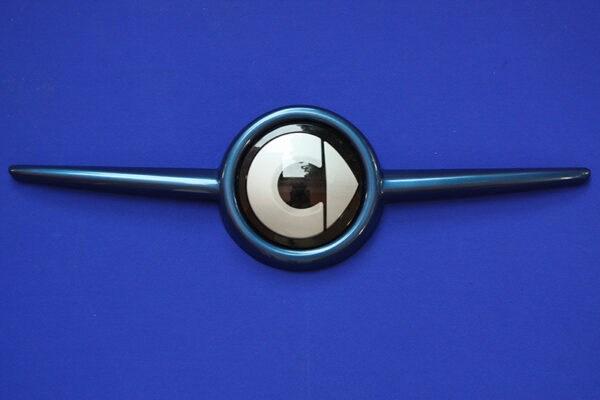 Front grille SLS in color midnight blue with original Smart emblem for Smart Fortwo 453