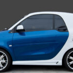 Side skirts for Smart Fortwo 453 coupé and cabrio in color white acrylic